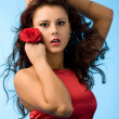 Woman in red — Stock Photo #4456861