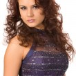 Womin blue dress — Stock fotografie #4457057