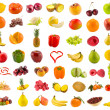 Stock Photo: Fruits, vegetables and berries