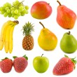 Stock Photo: Fruits collection