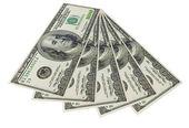 Hundred dollars banknotes — Stock Photo