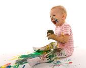 Emotional painter — Stock Photo