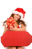 Female christmas portrait — Stock Photo