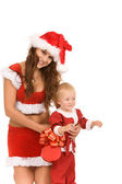 Two Santa Clauses — Stock Photo