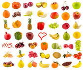 Fruits, vegetables and berries — Stock Photo