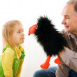 Man playing with little girl — Stock Photo #4530035