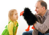 Man playing with little girl — Stock Photo