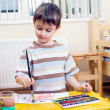 Painting boy — Stock Photo