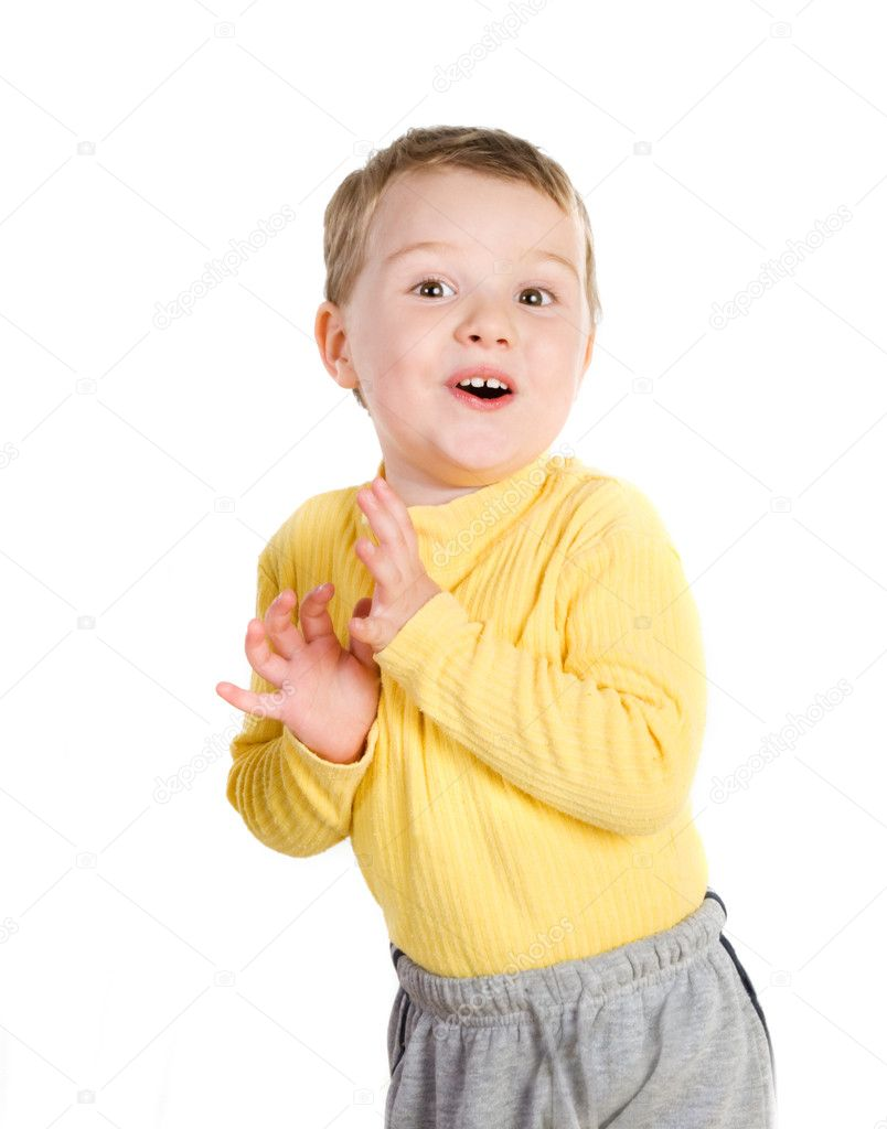 Cheerful little boy — Stock Photo #5135289