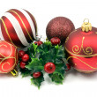 Festive christmas decorations — Stock Photo
