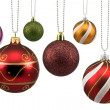 Colorful ornate christmas baubles — Stock Photo #4233960