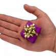 Hand with gift — Stock Photo