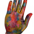 Painted human hand — Stock Photo