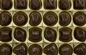 Dark chocolate pralines — Stockfoto