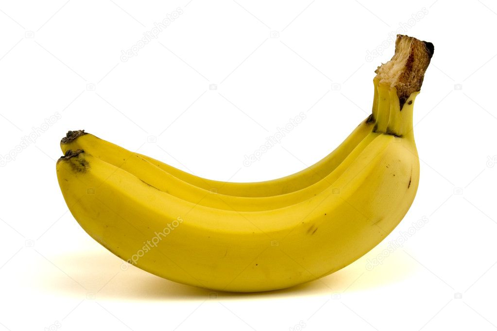 Bunch of yellow bananas on white background — Stock Photo #4549985