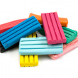 Colorful children's plasticine bricks - Foto Stock