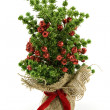 Artificial  christmas tree — Stock Photo