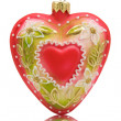 Heart shaped bauble — Stock Photo