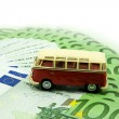 Red car and money — Stock Photo #4689646
