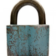 Old blue padlock — Stock Photo