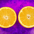 Royalty-Free Stock Photo: Two halves of fresh orange fruit