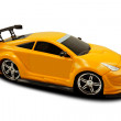 Yellow fast sports car — Stock Photo
