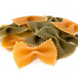 Royalty-Free Stock Photo: Three colour pasta farfalle