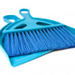 Royalty-Free Stock Photo: Blue scoop for dust and brush