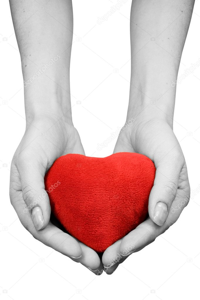Hands with heart isolated on white background — Stock Photo #4919116