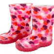 Colorful children's rain boots — Stock Photo