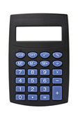 Black calculator with blank screen — Stock Photo