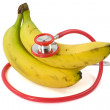 Bananas and Stethoscope — Stock Photo