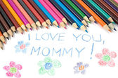 Kid's mothers day drawing — Foto de Stock