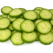 Pile of  cucumber slices — Stock Photo