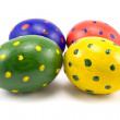 Stock Photo: Four colorful easter eggs