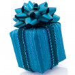 Blue gift — Stock Photo