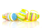 Colorful bright easter eggs — Stock Photo