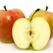 Stock Photo: Group of apples