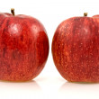 Two fresh rip  apples — Stock Photo