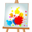 Blots on an easel — Stock Vector