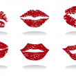 Lips of the girl — Imagen vectorial