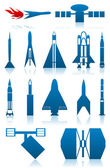 Icons of rockets — Stock Vector