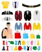 Fashionable clothes — Stock Vector