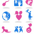 Pregnancy icons - Stock Vector
