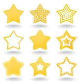 Icono de una estrella — Vector de stock