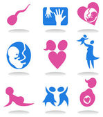 Pregnancy icons — Stock Vector