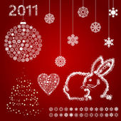 Year of a rabbit5 — Stock Vector