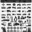Transport icons — Stockvectorbeeld