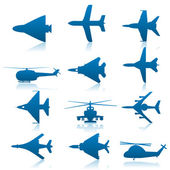 Aircraft icons — Stock Vector