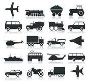 транспорт иконки — Cтоковый вектор